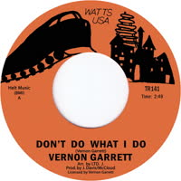Vernon Garrett - Don't Do What I Do