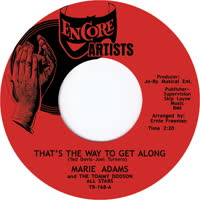 Marie Adams - That's The Way To Get Along